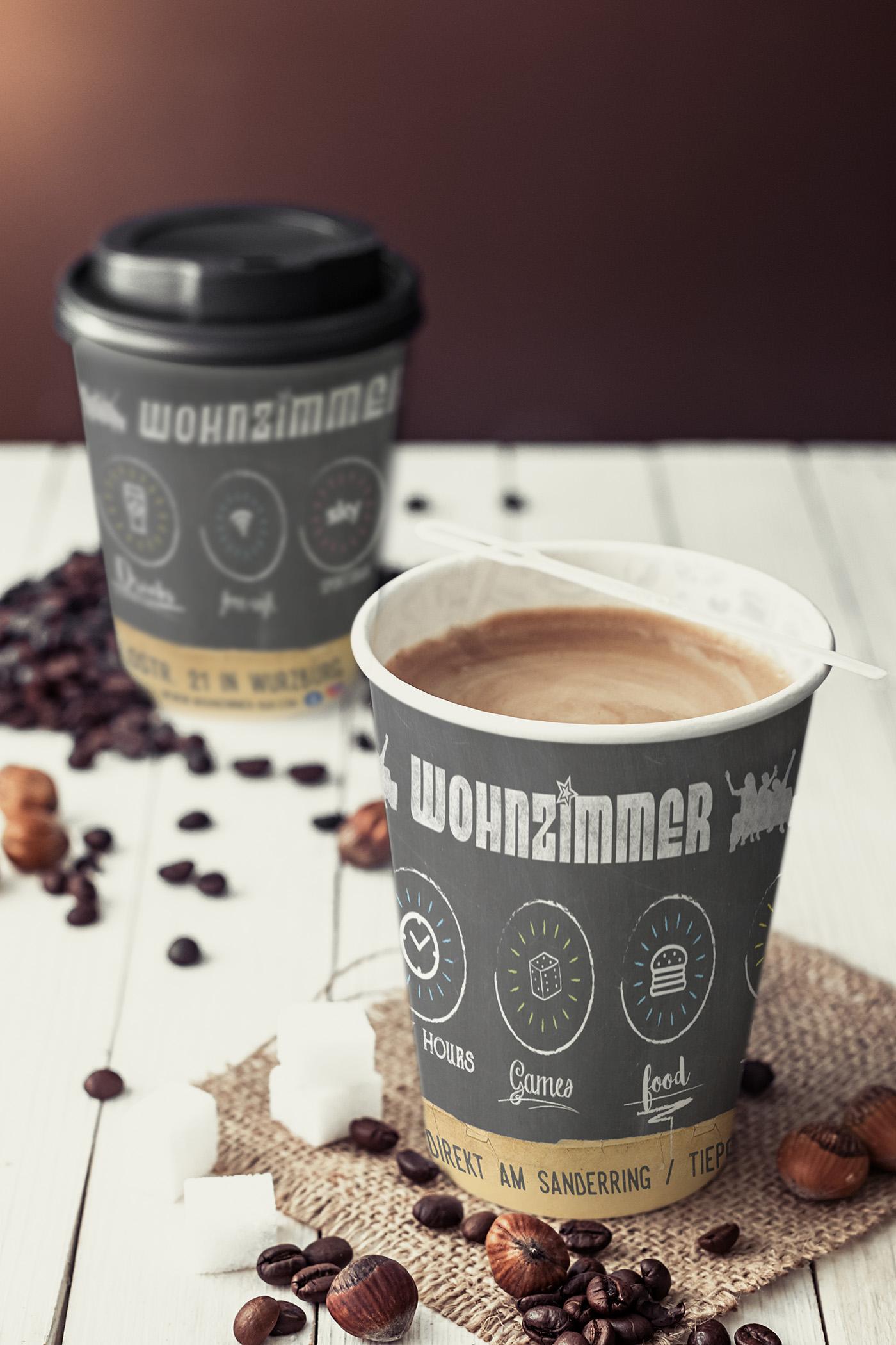 Kaffeebecher Vibagrafik