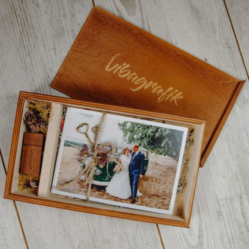 Holzbox graviert